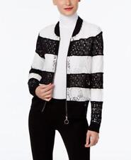 Inc International Concepts Petite Lace Bomber Sweater Deep Black Sz PS Pt2