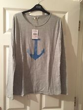Two Ladies Grey Cotton Top - Size L x 2  *BRAND NEW*