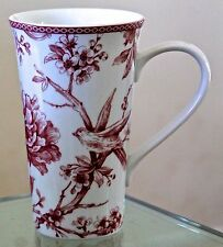 222 Fifth Adelaide Maroon Red Tall Lattee Coffee Tea Cup New Porcelain