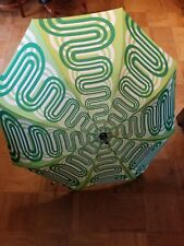 Bright Night Illuminated Umbrella/ design #2/ Slow Flow/ Green and white/ Sealed