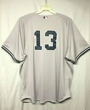 MLB New York Yankees Alex Rodriguez # 13 Majestic Road/Away Gray Jersey Size 60