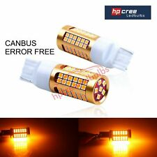 NEW 2019 SUPER CANBUS T20 7440 W21W BRIGHTEST 78 LED 3030 AMBER INDICATOR BULBS