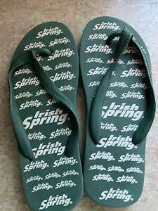 vintage rare find Irish Spring Flip Flops Green 8-9