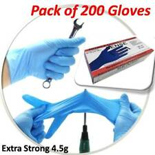 200 x Virgata Extra Strong Disposable Nitrile Gloves Powder Free Size Small