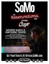 "SOMO / CAYE ""THE RESERVATIONS TOUR"" 2018 PORTLAND CONCERT POSTER - R&B Music"