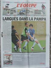 L'Equipe du 18/6/2010 (2eme cahier) - Rugby : avant Argentine-France - Bartoli -