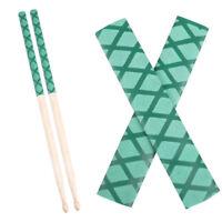 2Pcs Soft Anti-slip Drum Sticks Grips Drumsticks Sleeves Wrap Perform Tape Green