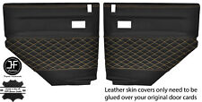 BEIGE DIAMOND STITCH 2X REAR DOOR CARD COVERS FITS LAND ROVER DEFENDER 90 110