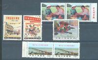 China 1965 sg.2238-9 gummed MNH. 1968 2410 pair, 1969 2422 pair & 2441a MNH -