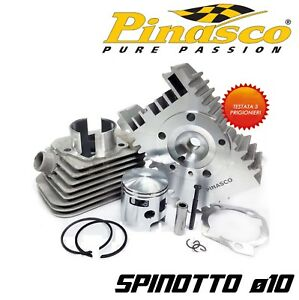 KIT GRUPPO TERMICO d.46 IN ALLUMINIO PINASCO 75cc SPINOTTO 10 PIAGGIO BRAVO 50