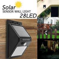 28 LED Solar Power Lamp PIR Motion Sensor Waterproof Outdoor Garden Wall Light
