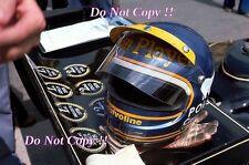 Ronnie Peterson JPS LOTUS F1 PORTRAIT PHOTOGRAPHIE DE 1978 5