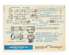 Browning AN-M2 .50 Cal Aircraft Machine Gun drawing 7/11/19