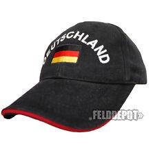 Germania Cap Black/Red con stick WM EM
