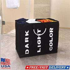 Durable Laundry 3 Sorter Hamper Clothes Storage Basket Bin Organizer Washing Bag