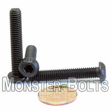 (10) M6 x 35mm - Button Head Socket Caps Screws ISO 7380 12.9 Alloy Steel Blk Ox
