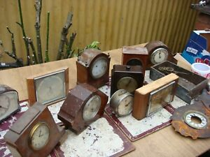 Antique Vintage Old Mantle Clock  Parts And  Empty Cases For Spare to Repair