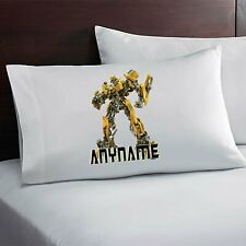 Transformers Bumblebee Custom Pillow Case Custom Made w. Your Name