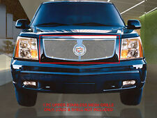 Polished Upper Replacement Mesh Grille Grill For Cadillac Escalade 02-06