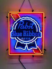 "Pabst Blue Ribbon Light Beer Bar Lamp Neon Sign 24"" With Hd Vivid Printing"