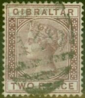 Gibraltar 1886 2d Brown-Purple SG10 Fine Used