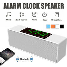 LED Display Wireless bluetooth Speaker Alarm Clock Call FM Radio TF AUX  z