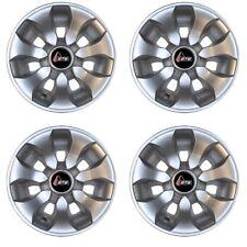 "Set of 4 Golf Cart 8"" Drifter Silver GTW Wheel Covers Hub Caps Universal Fit"