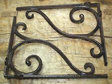 6 Cast Iron Antique Style LARGE SCROLL Brackets Garden Braces Shelf Bracket