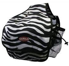 BLACK & WHITE Zebra Print Design Nylon Western Insulated Saddle Bag