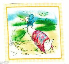 """2.5"""" BEATRIX POTTER DUCK SQUARE  NURSERY   WALL SAFE FABRIC DECAL"""