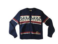 Vintage Kitz Pichler Sportissimo Konen Zip Wool Cardigan Austria Deer
