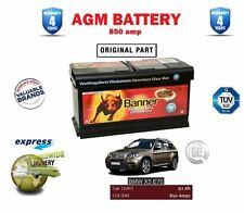 FOR BMW X5 E70 3.0 TD 2007--> NEW AGM BANNER ORIGINAL BATTERY 850AMPS 4 YEARS