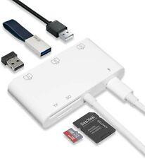 Lighting to USB 3 Camera Reader USB HUB, USB/SD/TF Memory Card Reader Adapter