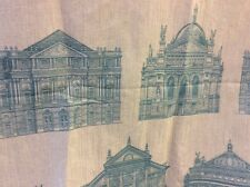 2.90m VOYAGE Teal Roman Buildings Woven Fabric. FREE POSTAGE