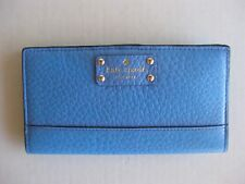 NEW! Kate Spade Stacy Bay Street Bifold Leather Wallet Alice blue New with Tags
