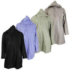 Plain Green Hooded Long Sleeve Casual Kurta Shirt - Small