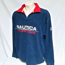 VTG Nautica Competition Fleece Pullover Jacket 90s Spell Out Sweatshirt XXL 2XL