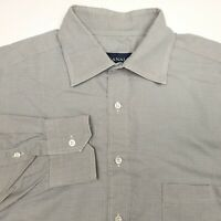 Canali Italy Gray Long Sleeve Button Up Dress Shirt Men's Size 16 41 Used