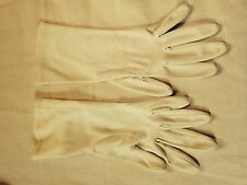 Vintage Ladies Gloves- White- 1950's- sz. 6 1/2