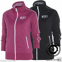 Nike Full Zip Tracksuit Top Women's Sweatshirt Black Pink All Sizes 515114
