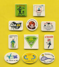 FEVES PERSO > A. & L. CHARLES A VERN D'ANJOU (49) .ref.P81  LOGOS CLUBS DIVERS