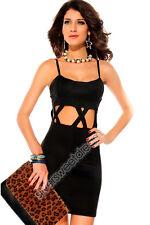 Vestito mini abito ESTATE ESTIVO donna elegante ragazza elasticizzato festa NEW