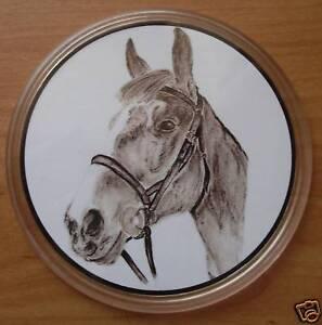 Pastel Horse Coaster #2 -original pastel drawing design
