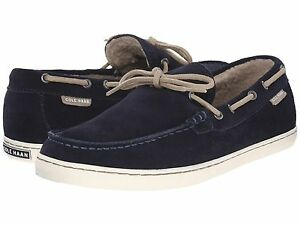 Men's Cole Haan Pinch Weekender Camp Moccasin Shearling Slip, C20847 Sizes 11-12