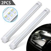 2x 12V 72 LED intérieur voiture blanc bande lumières barre lampe voiture van DE