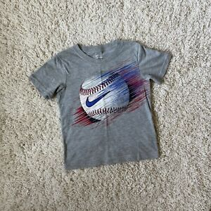 Nike Boys The Nike Tee Short Sleeve T-Shirt Gray Size 6-7 Years