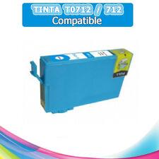 TINTA CIAN T0712 712 COMPATIBLE PARA IMPRESORAS NONOEM EPSON CARTUCHO CYAN