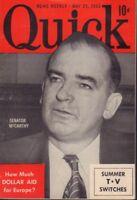 Quick News Weekly May 25 1953 Senator McCarthy Cheesecake Pin Up 091318AME