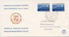 Speciale vlucht Philips Friendship (24-09-1966) - Met net getypt adres