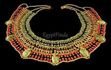 Egyptian Hand crafted Cleopatra Necklace With 7 Scarabs Belly dance From Egypt